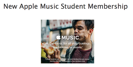 Apple Music Student Membership